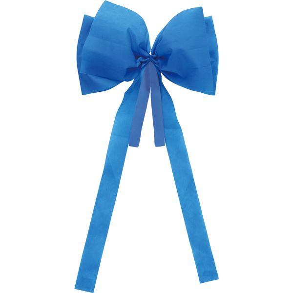 (まとめ) 背おえる簡単リボン 約350×約700mm 不織布製 ブルー(青) 【×40セット】 青