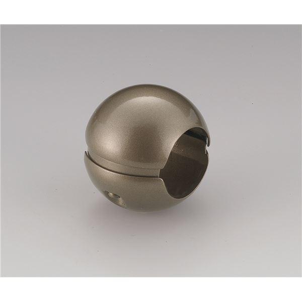 【10個セット】階段手すり滑り止め 『どこでもグリップ』ボール形 亜鉛合金 直径32mm アンバー シロクマ 日本製