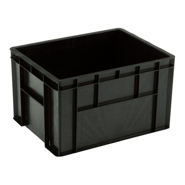 (業務用5個セット)三甲(サンコー) 導電性コンテナボックス/テンバコ 【75.6L】 段積み可 ED-76 ブラック(黒) 黒