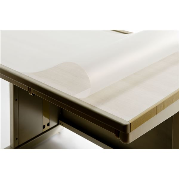 再生デスク (テーブル 机) マット 【EMタイプW/1.5mm厚】 1595mm×695mm 下敷なし 両面非転写 反射防止 環境配慮型 REM-167S