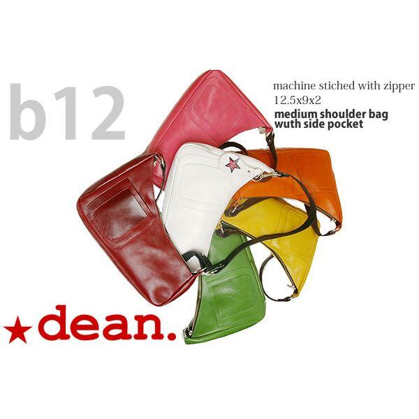 ★dean(ディーン) medium shoulder ハンドバッグ ピンク ハンドル/ブラウン 茶