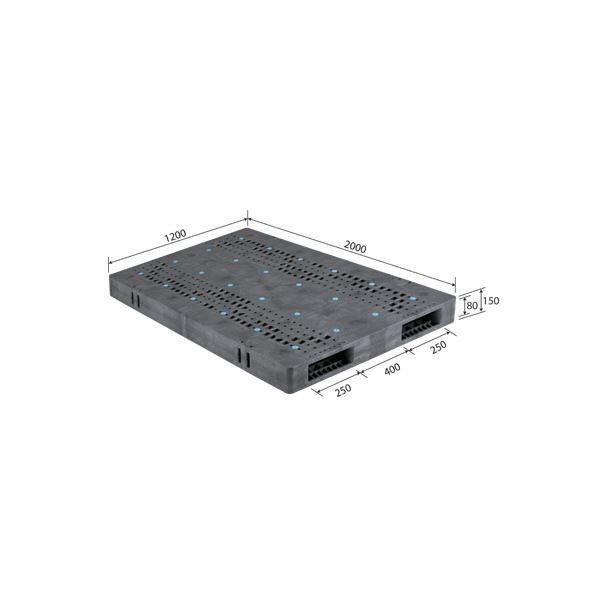 三甲(サンコー) プラスチックパレット/プラパレ 【両面使用型】 段積み可 R2-1220F グレー(灰)【代引不可】