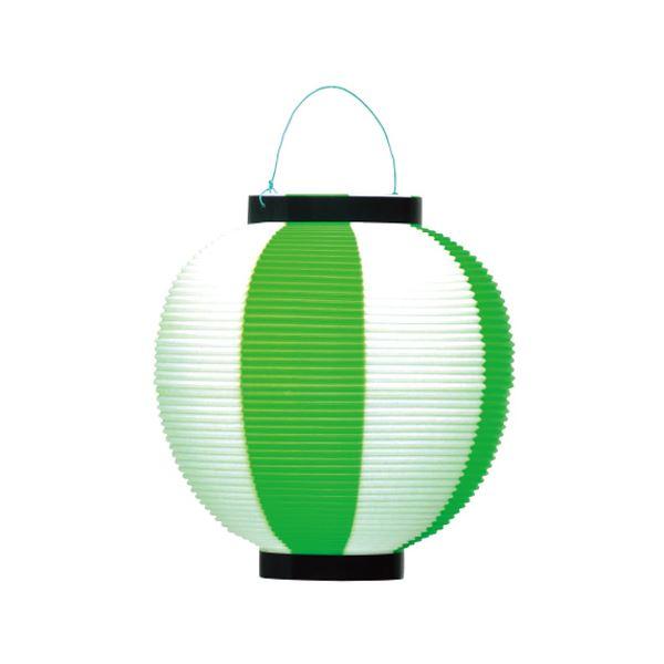 (業務用10セット) タカ印 ポリ提灯 40-7040 緑白