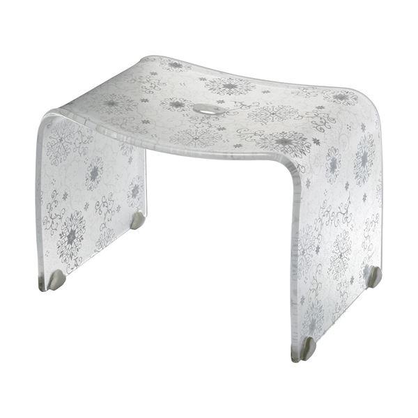 【4セット】 ロマンチック バスチェア/風呂椅子 【Mサイズ オフホワイト】 脚ゴム付き 『フィルロ シュシュ』【代引不可】