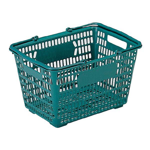 (業務用30個セット)三甲(サンコー) サンショップカーゴ/買い物かご 【17L】 プラスチック製 把手付き グリーン(緑) 緑