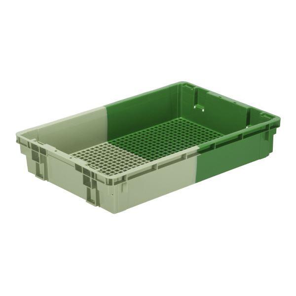 (業務用5個セット)三甲(サンコー) SNコンテナ/2色コンテナボックス 【Cタイプ】 #32-3 グリーン×グリーン 【代引不可】