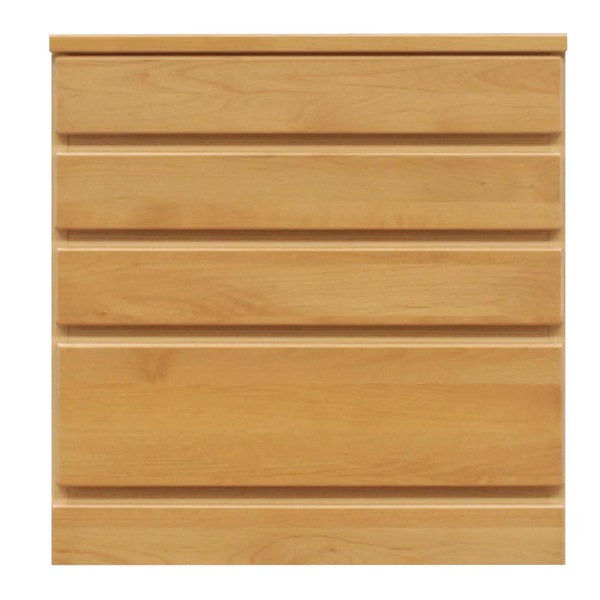 4段チェスト/ローチェスト 【幅60cm】 木製(天然木) 日本製 ナチュラル 【完成品】【玄関渡し】