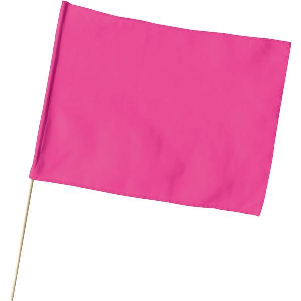 (まとめ) 旗/フラッグ 【大】 600mmX450mm ポリエステル製 軽量 蛍光ピンク 【×30セット】
