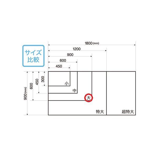 マグエックス マグネット暗線ホワイトボードシート 大 MSHP-6090-M 白