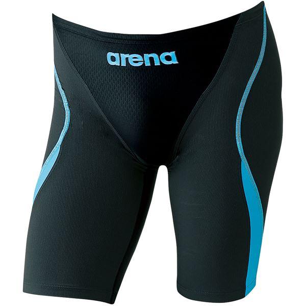 ARENA(アリーナ) AQUA-HYBRID ジュニアハーフスパッツ ARN8081MJ ブラック×グレイ×ブルーF 140cm 黒 青