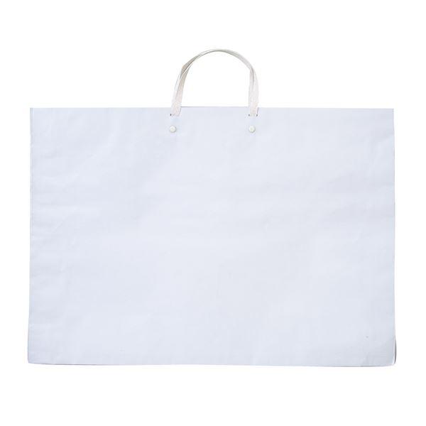 (まとめ) ●作品バッグ 紙製 ホワイト(白) 【×30セット】 白