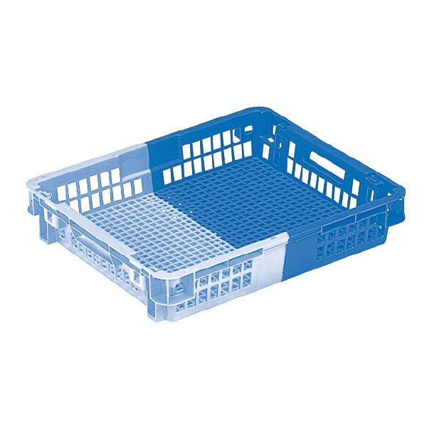 (業務用10個セット)三甲(サンコー) SNコンテナ/2色コンテナボックス 【Cタイプ】 #20T ブルー×ライトブルー 【代引不可】