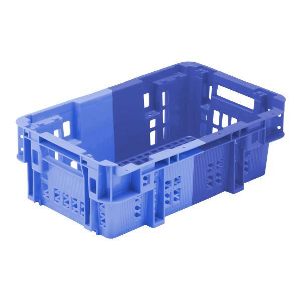 (業務用10個セット)三甲(サンコー) SNコンテナ/2色コンテナボックス 【Cタイプ】 #29T-2H ブルー×ライトブルー 【代引不可】