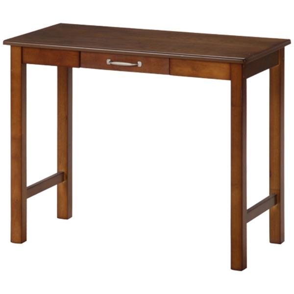 北欧風 デスク (テーブル 机) /マルチテーブル 机 【ミディアムブラウン】 幅90cm 引き出し1杯付き 『マンチェスター』 茶