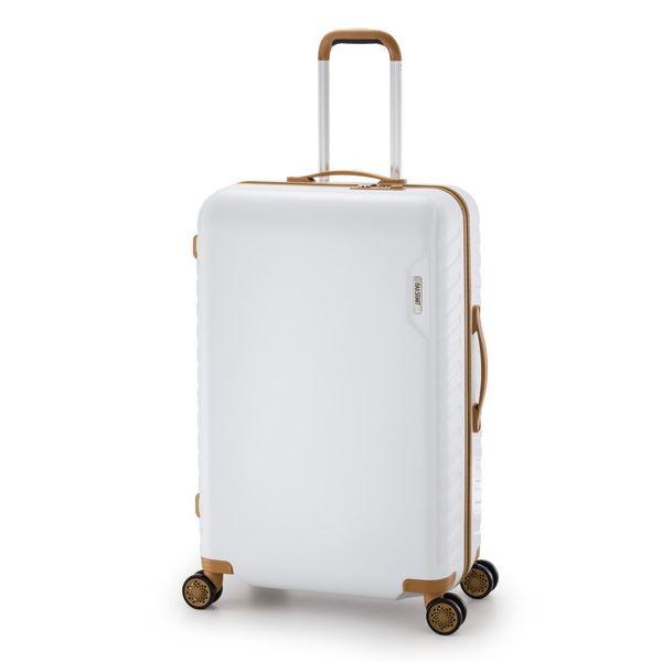 スーツケース/キャリーバッグ 【ホワイト】 90L 手荷物預け無料最大サイズ ダイヤル式 アジア・ラゲージ 『MAX SMART』