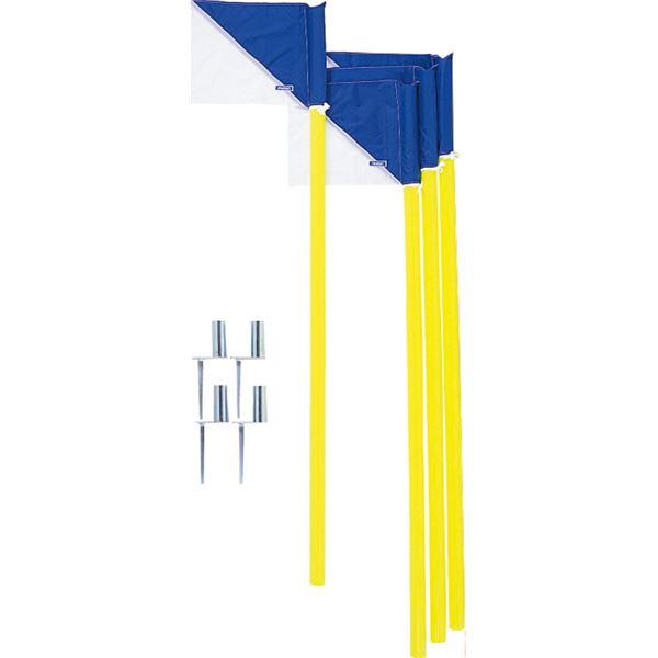【モルテン Molten】 コーナーフラッグDX/サッカー用品 【4本セット】 パイプ:直径43mm×160cm フラッグ:39×29.5cm
