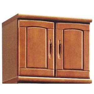 上置き(シューズボックス用棚) 幅60cm 木製 扉/棚板付き 日本製 国産 ブラウン 【Horizon3】ホライゾン3 【完成品 開梱設置】 茶