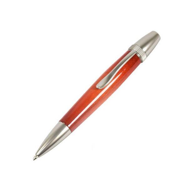 日本製 Air Brush Wood Pen キャンディカラー ボールペン(ギター塗装)【パーカータイプ/芯:0.7mm】Orange/カーリーメイプル