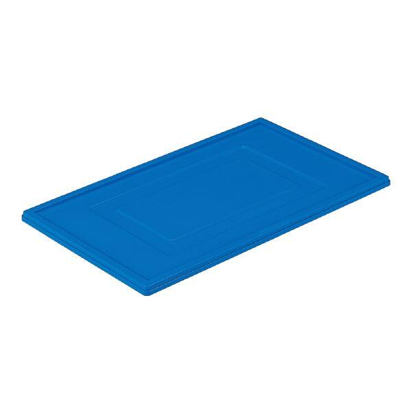 (業務用10個セット)三甲(サンコー) 折りたたみコンテナボックス/オリコン用蓋 単品 【135B用】 ブルー(青) 【代引不可】