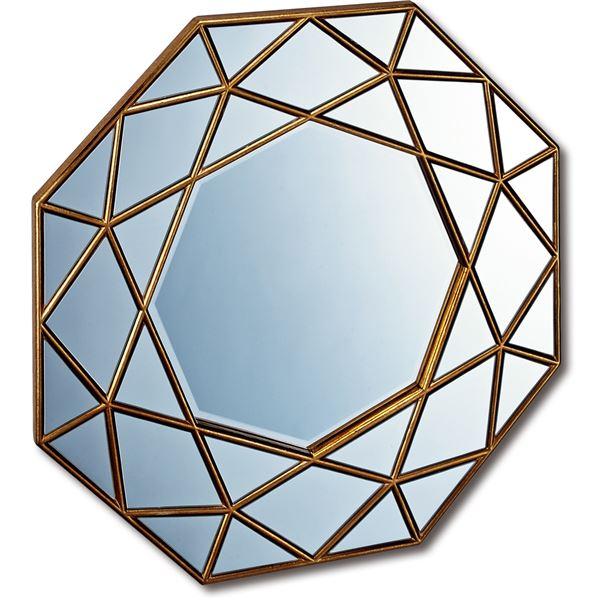 ダイヤモンドアートミラー DM-25001 アンティーク レトロ ヴィンテージ ゴールド