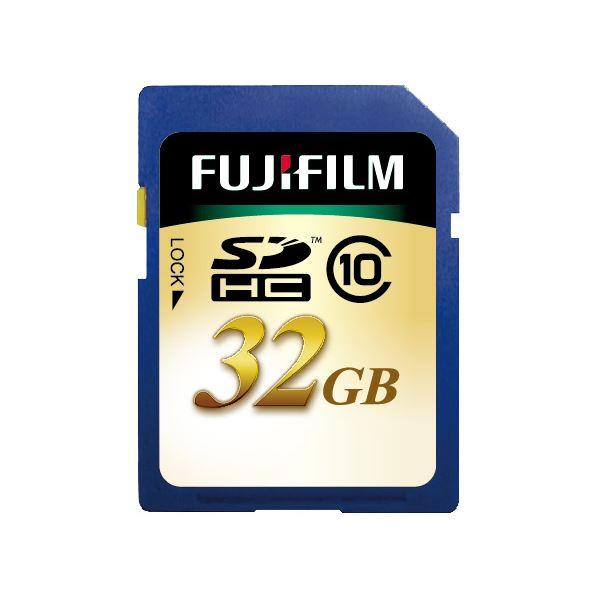 (まとめ)富士フイルム SDHCカード 32GBClass10 SDHC-032G-C10 1枚【×3セット】
