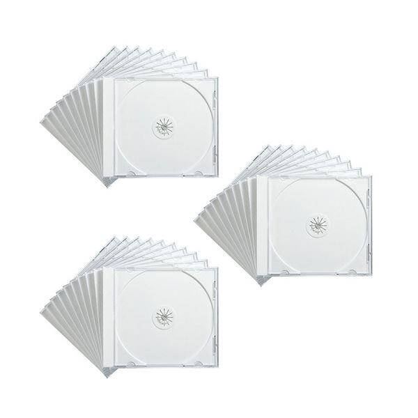 (まとめ)サンワサプライ DVD・CDケースホワイト FCD-PN30W 1パック(30枚)【×3セット】