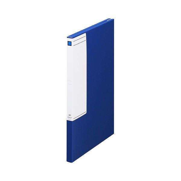 (まとめ)キングジム 図面ファイルGS A22つ折 背幅27mm 青 1172 1セット(5冊)【×3セット】