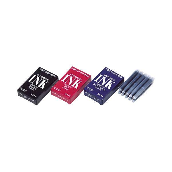 (まとめ) プラチナ デスク (テーブル 机) ペン専用スペアインク(カートリッジ) ブルーブラック SPSQ-400#3 1ケース(10本) 【×30セット】 黒 青