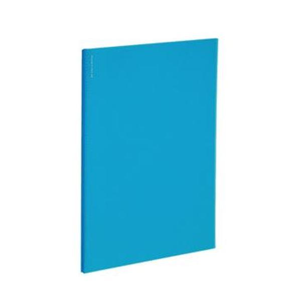 (まとめ)コクヨ ポケットファイルα(ノビータα)固定式 A4タテ 24ポケット 背幅4mm ライトブルー ラ-NF24LB 1セット(10冊)【×5セット】 青