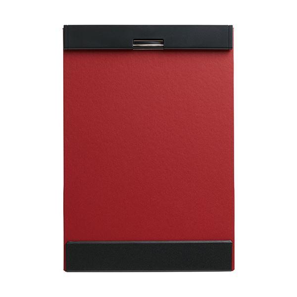 (まとめ) キングジム クリップボード マグフラップA4タテ 赤 5085アカ 1冊 【×10セット】