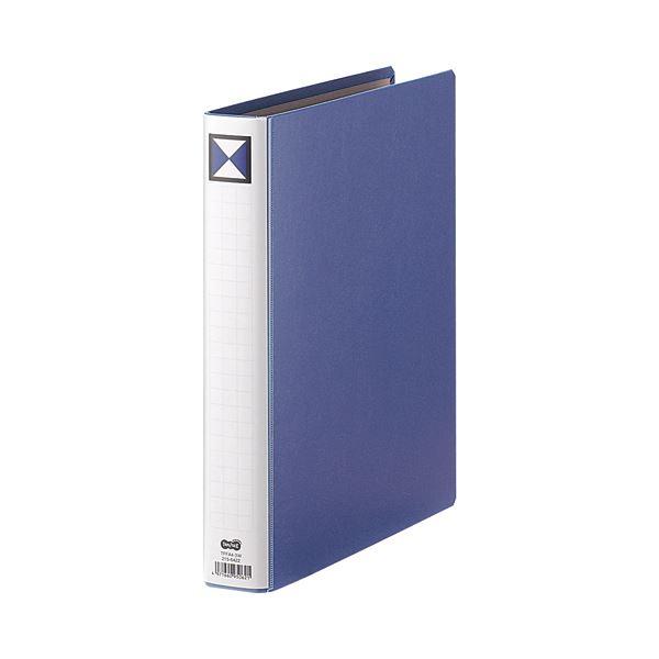 (まとめ) TANOSEE 両開きパイプ式ファイル A4タテ 300枚収容 背幅46mm 青 1冊 【×30セット】