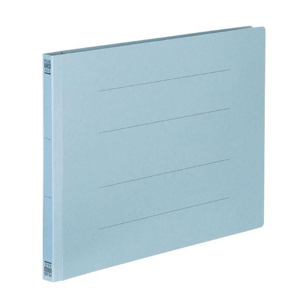 (まとめ) プラス フラットファイル 樹脂とじ具A4ヨコ 150枚収容 背幅18mm ロイヤルブルー No.022N 1セット(10冊) 【×30セット】 青