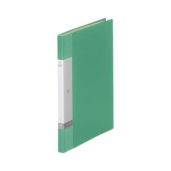 (まとめ) リヒトラブ リクエスト クリヤーブック(クリアブック) A4タテ 20ポケット 背幅16mm 緑 G3201-7 1冊 【×30セット】