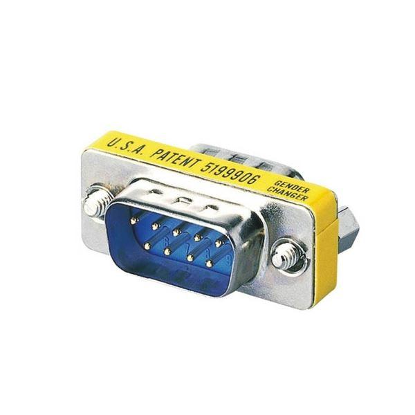 (まとめ) 超小型アダプタD-Sub9pinオス AD-D9MM 1個 【×10セット】