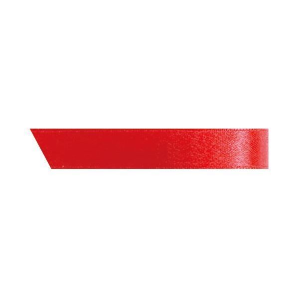 (まとめ) ヘッズ 片面サテンリボン 幅10mm×30m レッド 1001R 1巻 【×30セット】 赤
