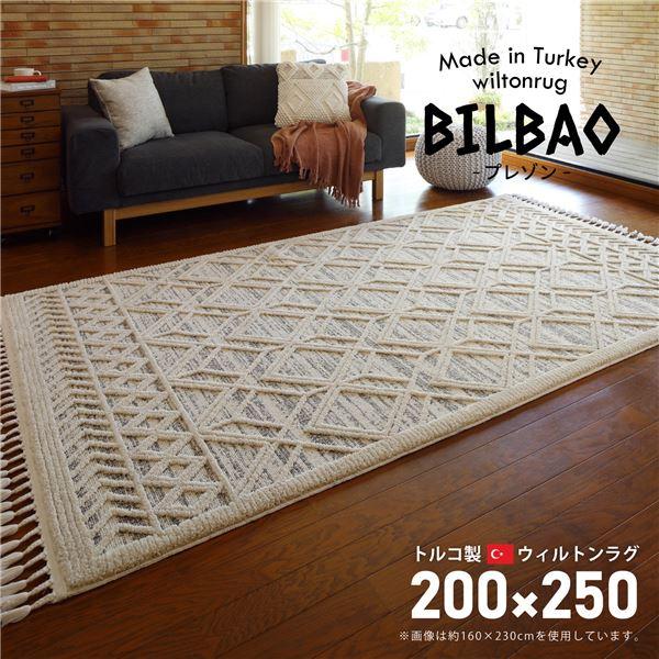 トルコ製 ラグマット/絨毯 【約200×250cm】 長方形 折りたたみ可 『BILBAO プレゾン』 〔リビング ダイニング〕