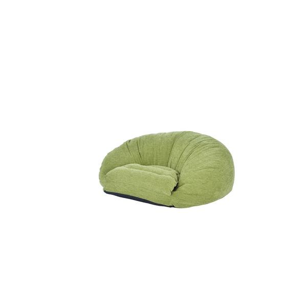 ふかふか スマホ ごろ寝 クッション マルセ グリーン 緑