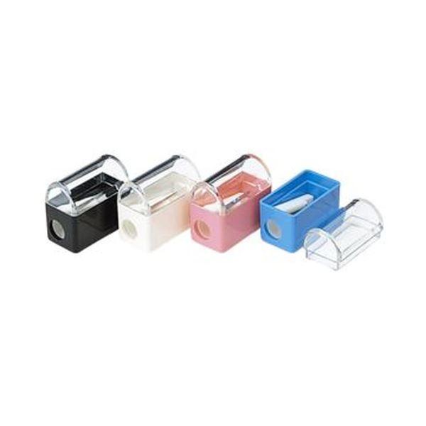 (まとめ)コクヨ 鉛筆削り HA-800 1セット(青・黒・ピンク・白 計20個/色指定不可/アソート)【×5セット】