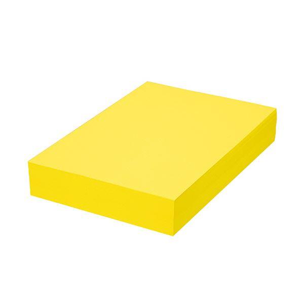 (まとめ) TANOSEE αエコカラーペーパーIIシトラスイエロー A4 1セット(2500枚:500枚×5冊) 【×5セット】 黄