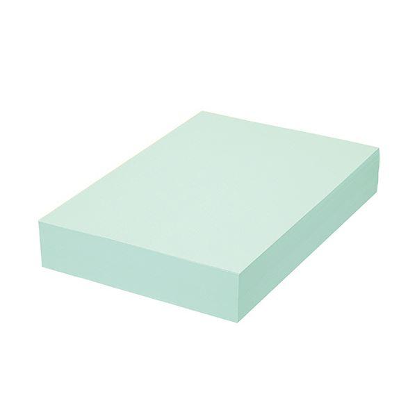 (まとめ) TANOSEE αエコカラーペーパーIIアクアブルー A4 1セット(2500枚:500枚×5冊) 【×5セット】 青