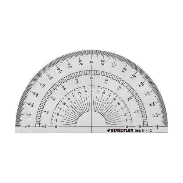 製図用品 定規 三角定規 勾配定規 分度器 まとめ ステッドラー 968 12cm 51-12 1枚 ×50セット お値打ち価格で 定番キャンバス 半円分度器