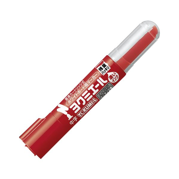 (まとめ) コクヨ ホワイトボード用マーカーペン ヨクミエール 中字・丸芯 赤 PM-B502R 1本 【×100セット】 白