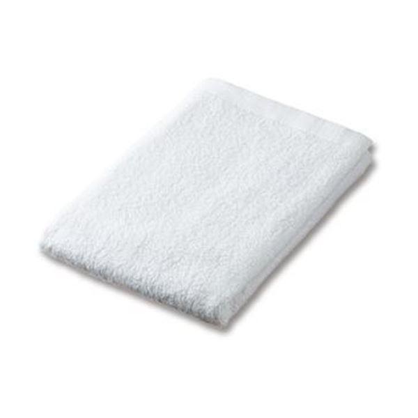 (まとめ)業務用バスタオル ホワイト 1セット(10枚)【×3セット】 白
