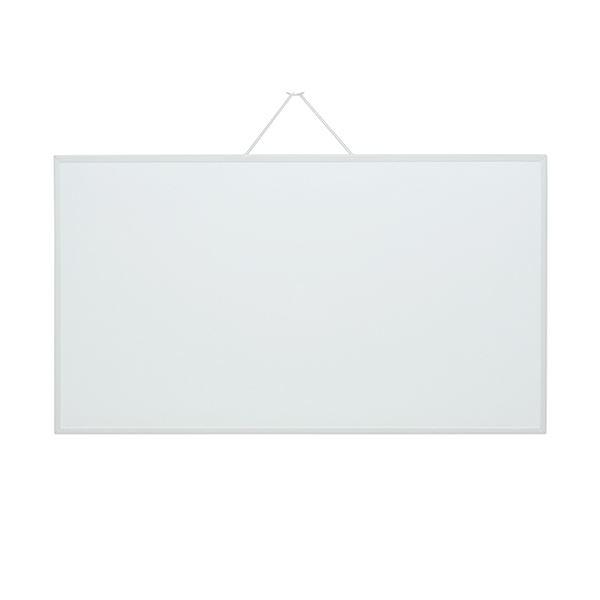 (まとめ) マグエックス ホワイトボードMX ワイド780×440mm MXWH-WD 1枚 【×10セット】 白