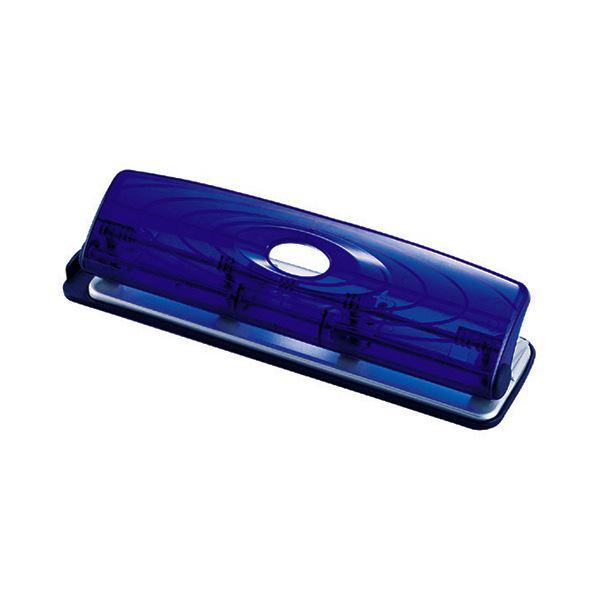 オープン工業 4穴パンチ 11枚穿孔 クリアブルー PU-881 1台 【×10セット】 青