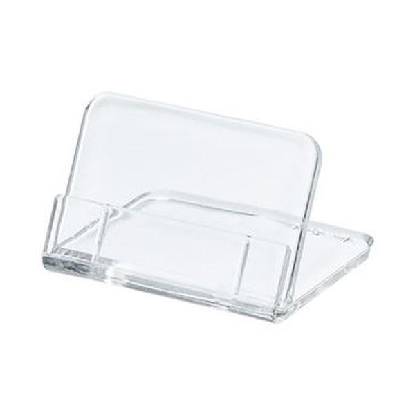 (まとめ)共栄プラスチック L型豆カード立 小W35×H25mm 透明 L-35-5 1パック(5個)【×50セット】
