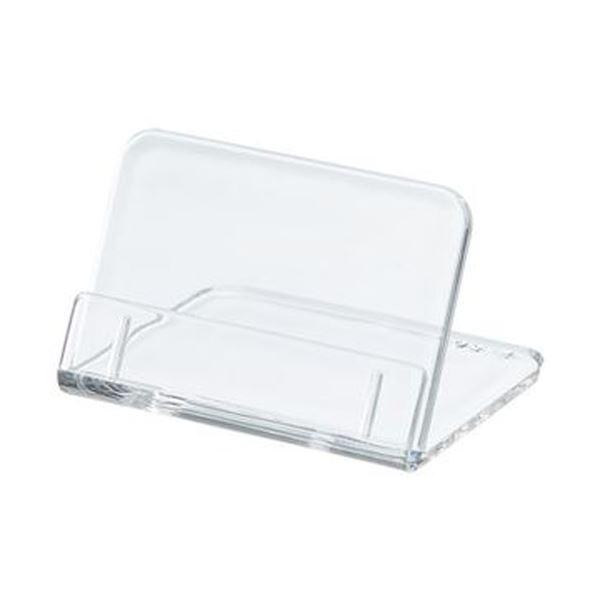 (まとめ)共栄プラスチック L型豆カード立W50×H35mm 透明 L-50-5 1パック(5個)【×50セット】