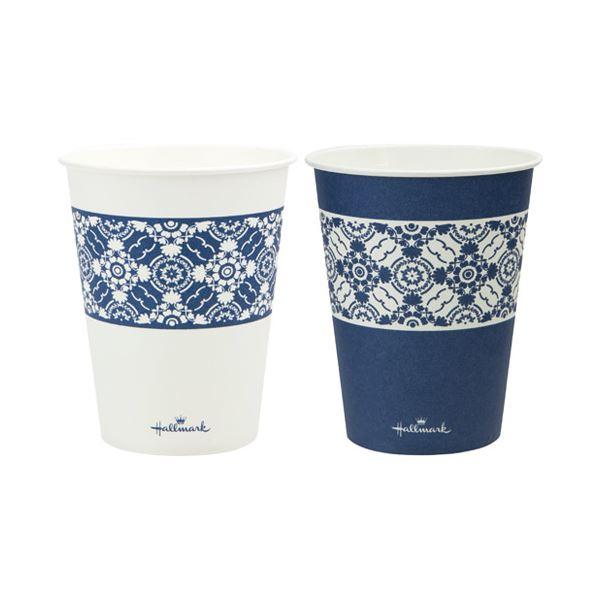 (まとめ) サンナップ HMクラシックブルーカップ275ml 100個【×10セット】