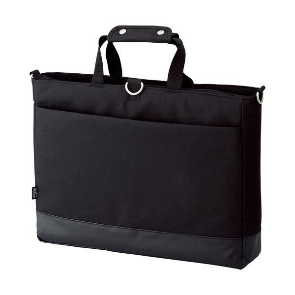 (まとめ) リヒトラブ SMART FITACTACT キャリングバッグ (ヨコ型) ブラック A-7670-24 1個 【×5セット】 黒