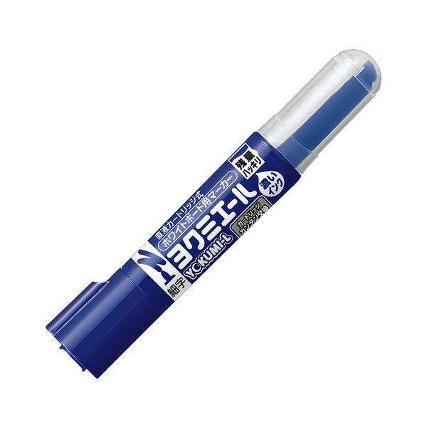 (まとめ) コクヨ ホワイトボード用マーカーペン ヨクミエール 細字・丸芯 青 PM-B501B 1本 【×100セット】 白